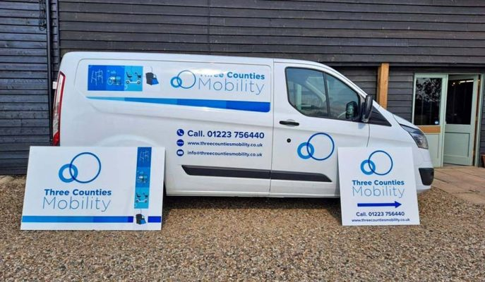 Three-Counties-Mobility-van-outside-store